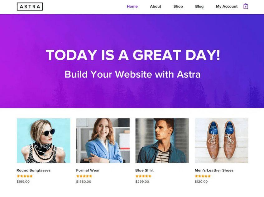 Astra – ke stažení zdarma na WordPress.org.